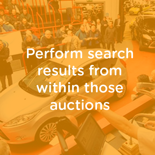 Perform search results from within those auctions